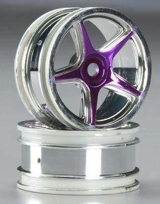 1:10 Wheel  26mm Chrome/Purple TA-VX